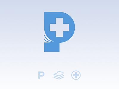 Medics Directory directory magazine medicine letter p monogram logo