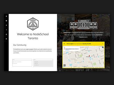 NodeSchool Toronto ui website site node yellow black white