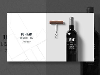 Durham Distillery - Exploration - Wine wine logo exploration design brand bottle alcohol