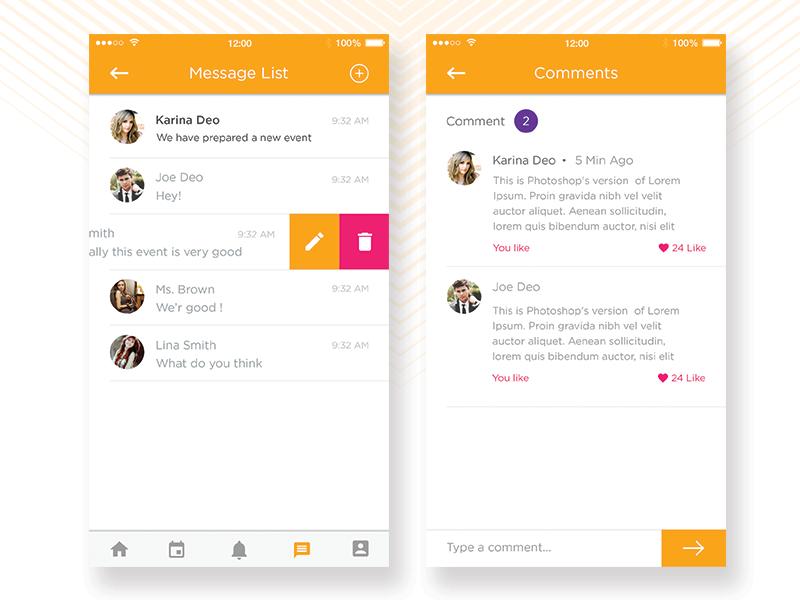 Chat App by Nikhil Jethva on Dribbble