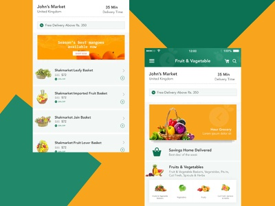 Grocery green yellow ios10 design ios10 colors android ios app design application groceryapp grocery