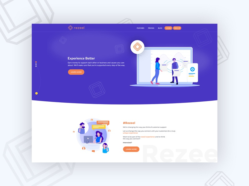 Web Rez ux ui typography logo vector branding design illustration ui design website design company website concept webdesign landing page for customer care customer care customer service landing page design landingpage about us website design website