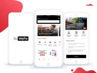 Fresh UI design for a Household Service app