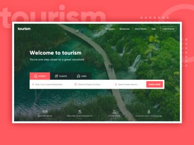Tourism web mockup design