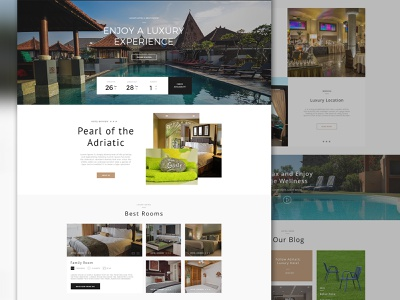 Luxury Hotel hotel design hotel website design web design ui design ui