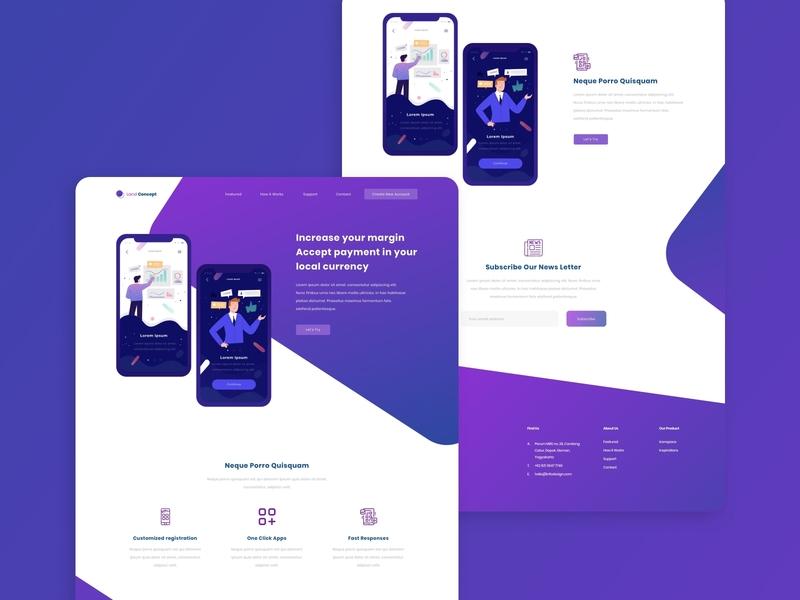 Landing Page Design | Website Concept app web ux ui website webdevelopment webdesign uiuxdesign uiux design
