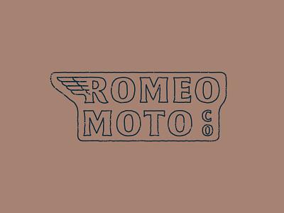 Romeo Moto neon sign hand type moto r