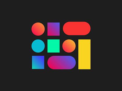 100 Degrés light flash gradient colors motion shape