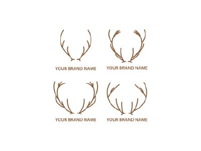 Deer Horn Logo Template horn deer illustration deer logo logo design branding nirmalagraphics templatelogo logospesialist logoawesome logotemplate logomaker logoforsale corpratelogo design company vector companyname illustration logo