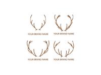 Deer Horn Logo Template