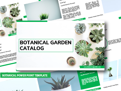 Botanical Garden Power Point Template
