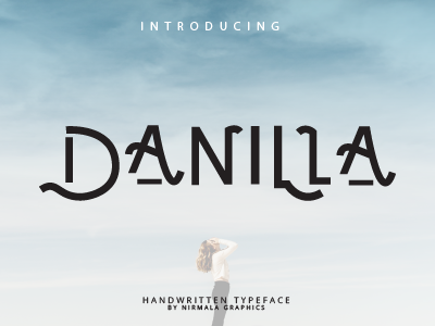 DANILLA - Handwaritten Typeface logo handwritten handlettering vintage font retro font letters proudly introducing introduce font design typogaphy typeface lettering