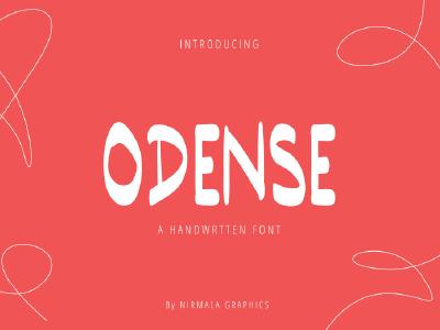 Odense Handwritten Font handwriting sans serif font script font handwritten handwritten font fonts font design font family