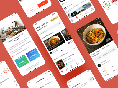 Recipes App recipe app cooking app application app design design web