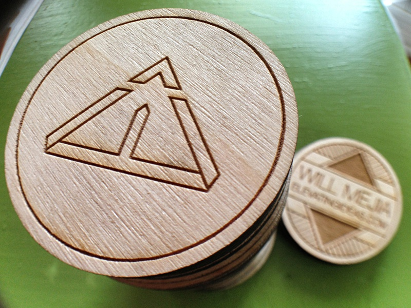 Laser Engraved Wooden Nickel By Will Mejia On Dribbble