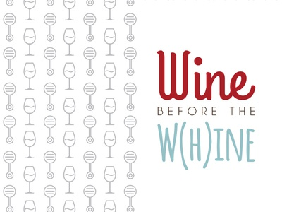 Baby Shower Invite :: Wine before the W(h)ine