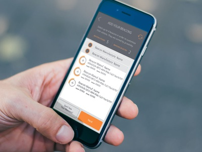 Beacons App // Configuration Screen