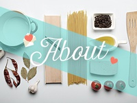 A Love Letter To Food // Website Headers