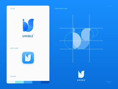 Unible Logo golden ratio branding app icon logo