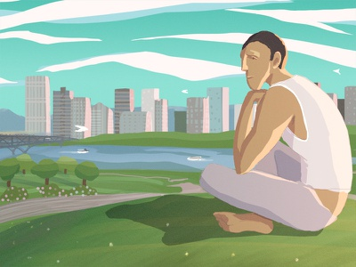 Blend mound digital painting drawing photoshop character vancouver water city cityscape blendfest