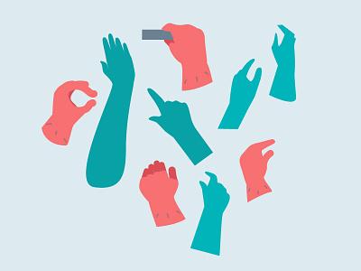 Hands cartoon character anatomy fingers gestures hands