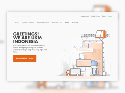 UKM Indonesia's Landing Page