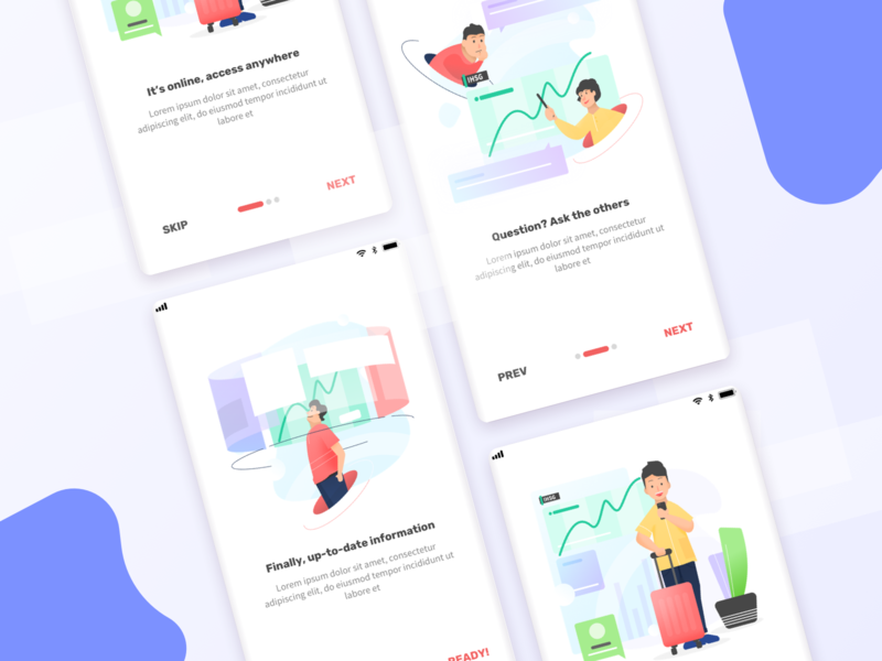 On Boarding - Trading App display graph people trading platform onboarding gradation ui design illustration