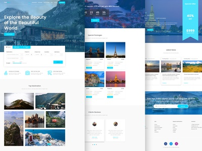 Tournest - Travel Agency responsive HTML5 Website Template Free tour guide tour agency travel agency website responsive bootstrap site html5 website website template free download