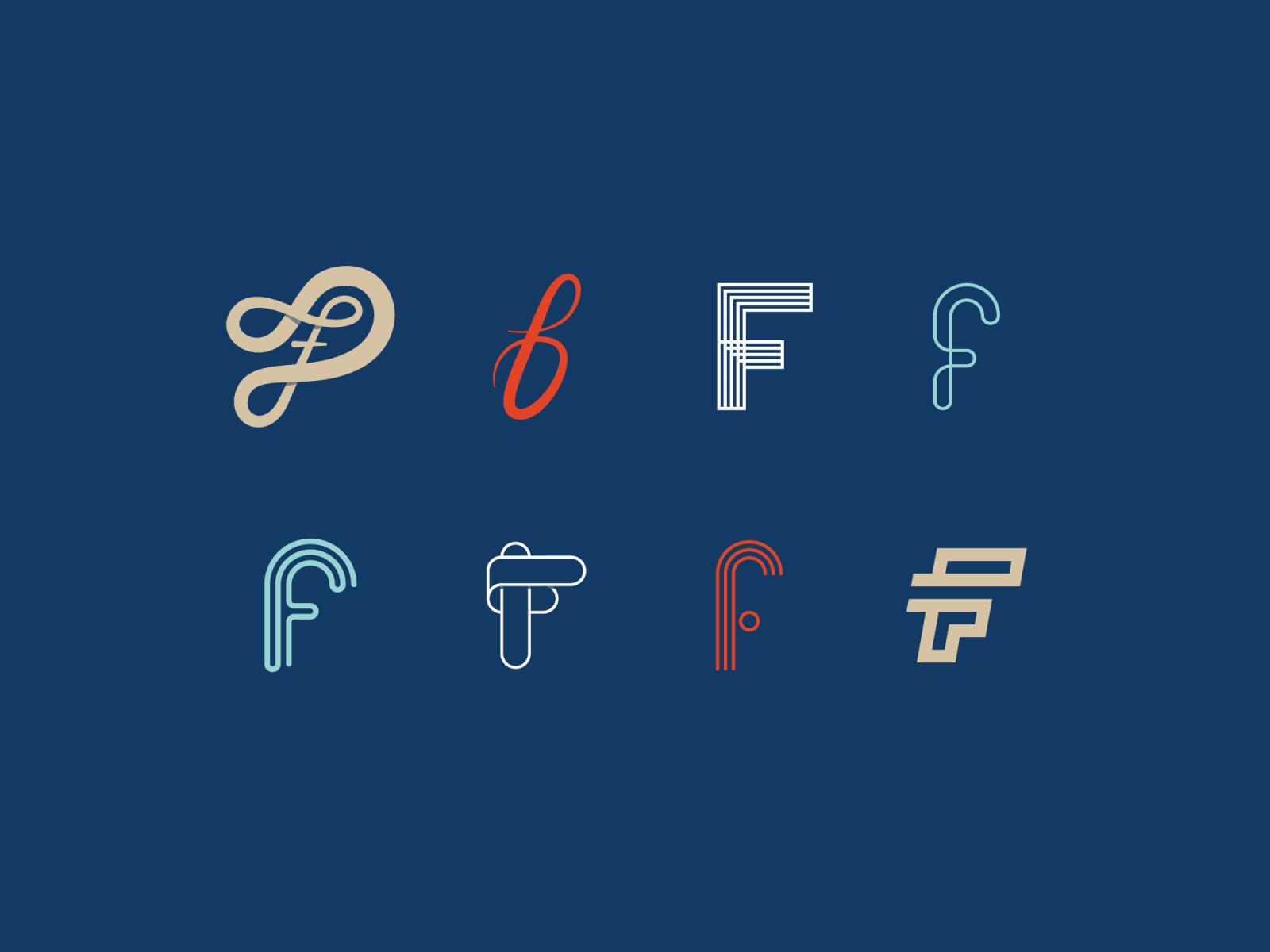 Dribbble letters f