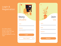 Story Studio's Login & Registration UX/UI