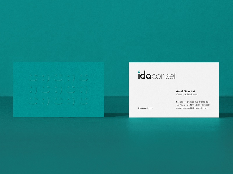Ida Conseil corporate business card corporate identity corporate branding corporate design branding design print design branding and identity logo branding