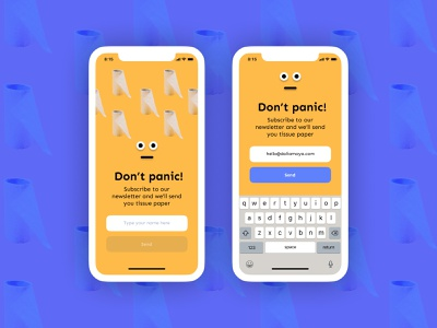 Don't panic ui subscription subscribe ui design