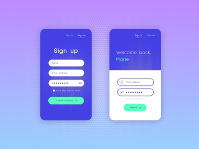 Sign up / Sign in Screen
