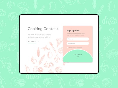 Landing Page Cooking Context