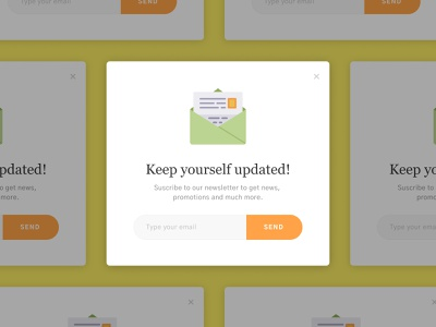 Newsletter Pop-Up ui design ui overlay popup newsletter