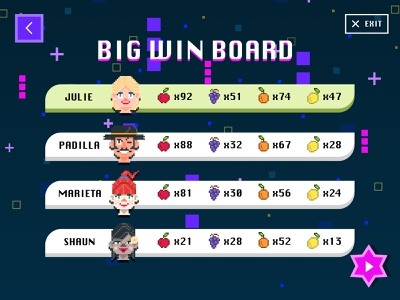 Game Leaderboard ui game design leaderboard pixel game