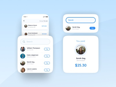 Search bar for a payment app search results payment app payment ui design ui search bar search