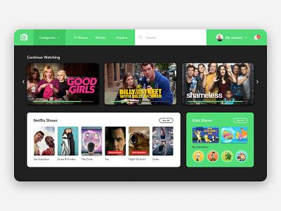 TV App ui design ui  ux ui tv app app design tv design tv series tv shows tv app