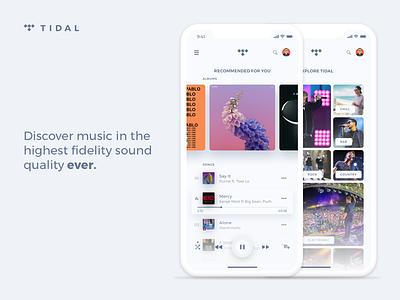 Tidal iOS App Redesign 📱 streaming music cards app tidal ios