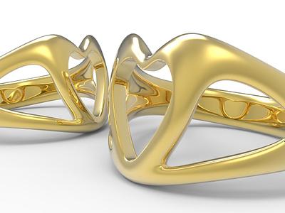 Love Heart Ring Concept 3d art 3d digital 3d grasshopper rhino3d ring