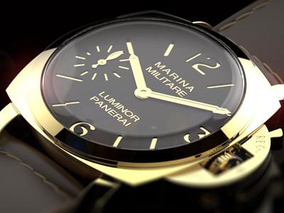 Panerai Watch Visualisation solidworks c4d watch face luxury gold leather 3d model 3d watch