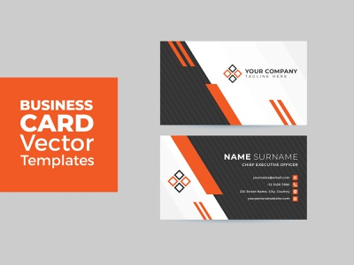 Business Card Vector Template Vol 1 simple clean presentation company background contact style vector illustration web corporate modern abstract creative layout design graphic card template business