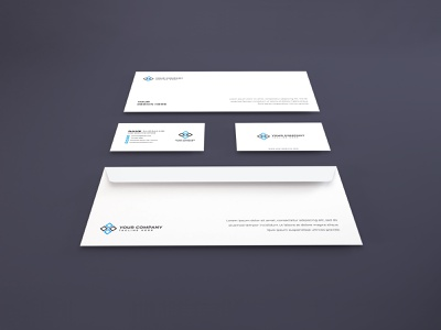 Stationery Set Mockup Vol 5 (Freebie) business card photoshop mockups branding identity psd paper 3d presentation stationery envelope corporate card mockup identity company business template