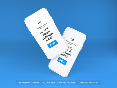 Download White iPhone Mockup Vol 5 (Freebies) 3d iphone gadget touchscreen display apple ios blank mockup device screen mobile technology smartphone