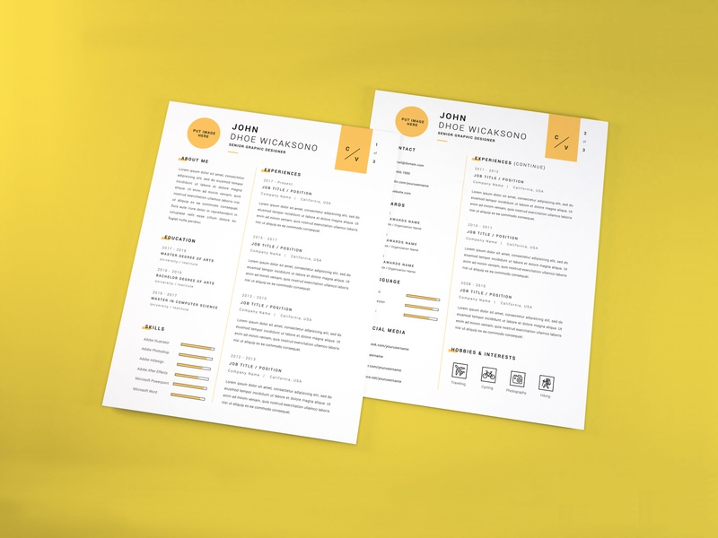 Download Curriculum Vitae Mockup Vol 7 profile cover professional letter document paper layout corporate application company infographic business template vitae resume curriculum mockup cv