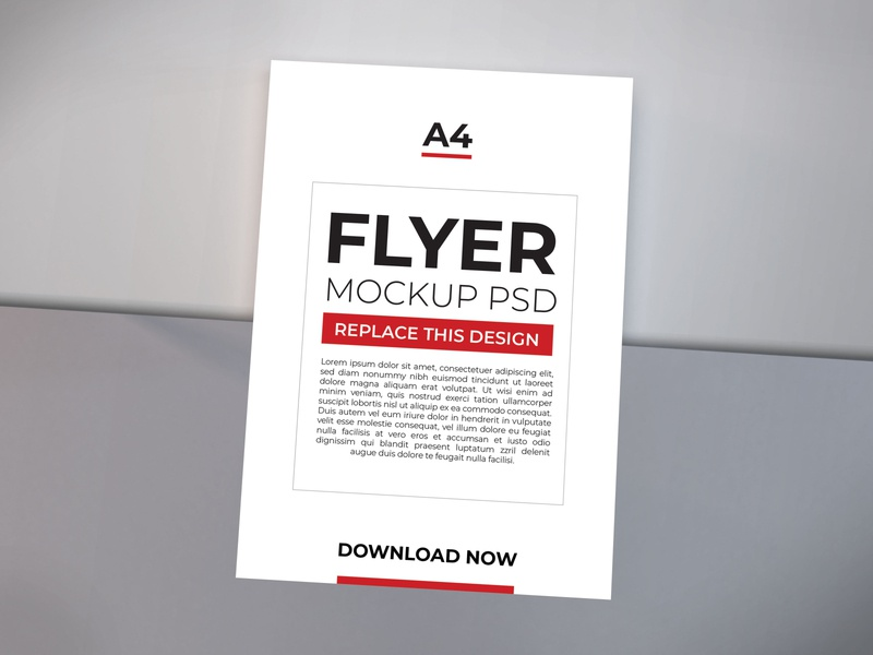 Download Flyer Mockup Vol 7 a5 stationery psd booklets paper print cover poster template mockup layout corporate design white flyer brochure a4