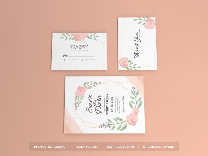 Download Wedding Invitation Mockup Vol 7 letter mock up text scene leaves feminine floral beautiful decoration elegant stationery greeting flower paper card template rsvp invitation wedding mockup
