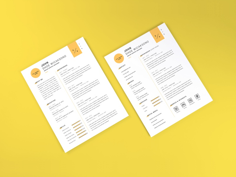 Download Curriculum Vitae Mockup Vol 8 profile cover professional letter document paper layout corporate application company infographic business template vitae resume curriculum mockup cv