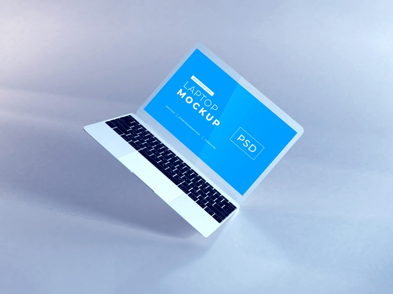 Download MacBook Air Mockup Vol 8 macos mac apple macbook device notebook template technology display mockup screen laptop scene creator computer