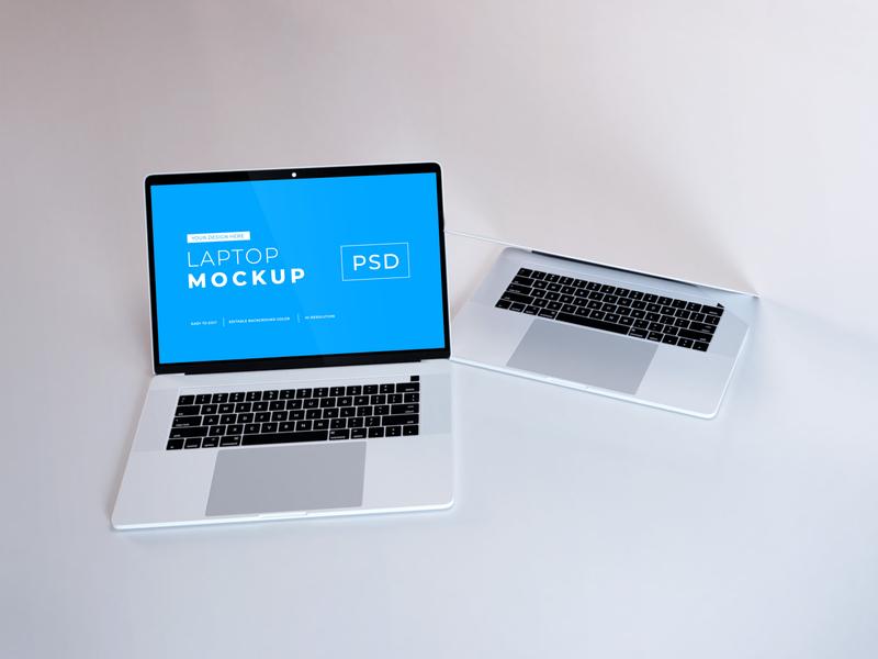 Download MacBook Pro Mockup Vol 8 macos mac apple macbook device notebook template technology display mockup screen laptop scene creator computer